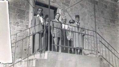 صورة بانياس 1950- الرئيس هاشم الأتاسي وعدنان خدام على شرفة السرايا