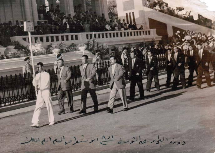 القاهرة 1951- الوفد السوري المشارك بدورة البحر الأبيض المتوسط الأولى بالاسكندرية