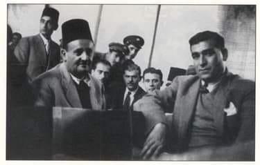 سلمان المرشد أثناء المحاكمة عام 1946