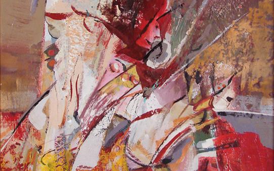 صورة تكوين .. لوحة للفنان أحمد مادون (23)