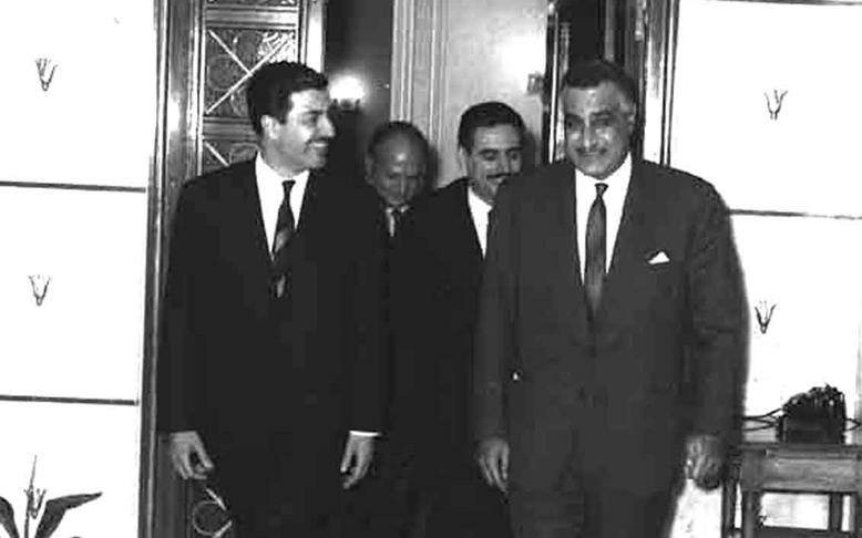 جمال عبد الناصر يستقبل إبراهيم ماخوس - حزيران 1966 (4)