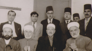 صورة تكريم الشيخ صالح العلي في مدينة اللاذقية عام 1945م