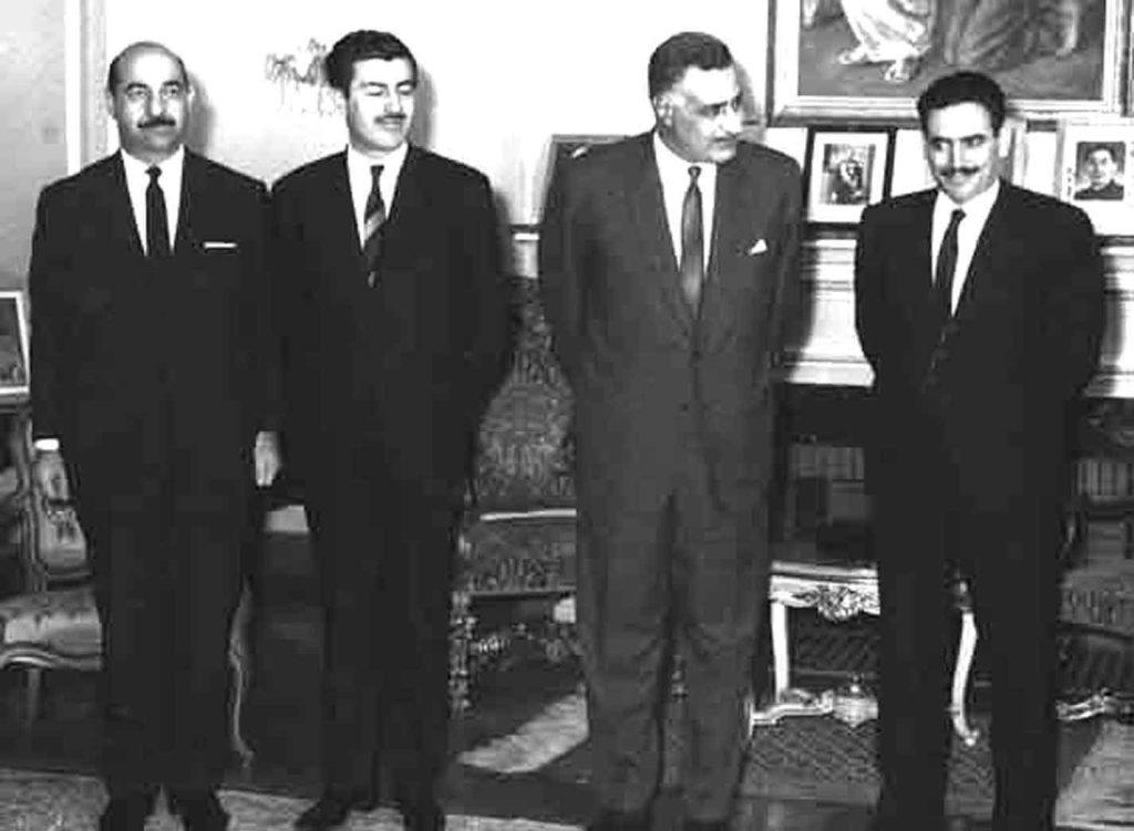 جمال عبد الناصر يستقبل إبراهيم ماخوس - حزيران 1966 (1)