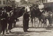 دمشق 1908- الحركة التجارية في ساحة سوق الخيل