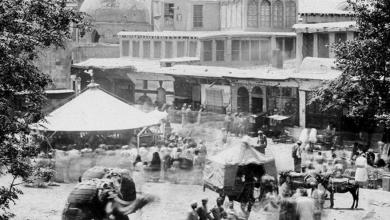 دمشق - خيمة البازار في سوق الخيل في أواخر القرن 19