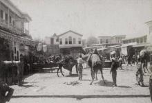 دمشق 1899 - ساحة سوق الخيل من الشمال الى الجنوب