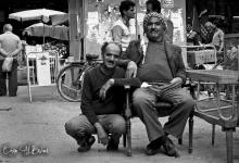 صورة جلسة في سوق الأروام مدينة دمشق عام 1986
