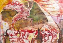 غروب في تدمر - لوحة للفنان أحمد مادون (24)