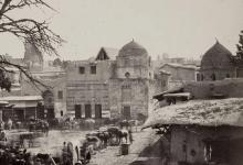 دمشق - ساحة سوق الخيل وقباب تربة البالجية ومسجد الدعمشية نهاية القرن 19