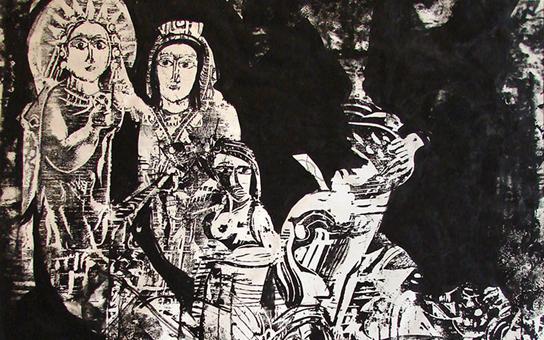 صورة وحي تدمر .. لوحة للفنان أحمد مادون (22)