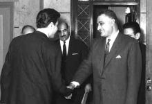 صورة جمال عبد الناصر يستقبل إبراهيم ماخوس – حزيران 1966 (5)