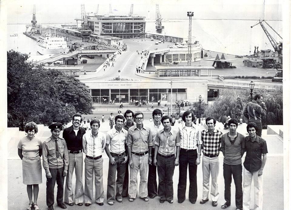 منتخب سورية العسكري بكرة السلة في أوديسا عام 1974