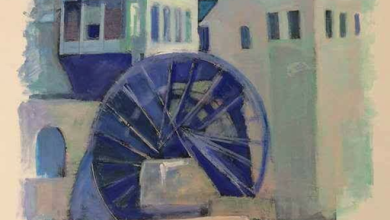 صورة لوحة فنية..  ناعورة الكيلانية في حماة