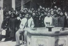 صورة دمشق 1965-  راشد جلعو وطلابه في مدرسة دار الألوسي