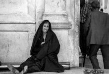 صورة سيدة إيرانية قرب باب المسجد الأموي في دمشق- عام 1985