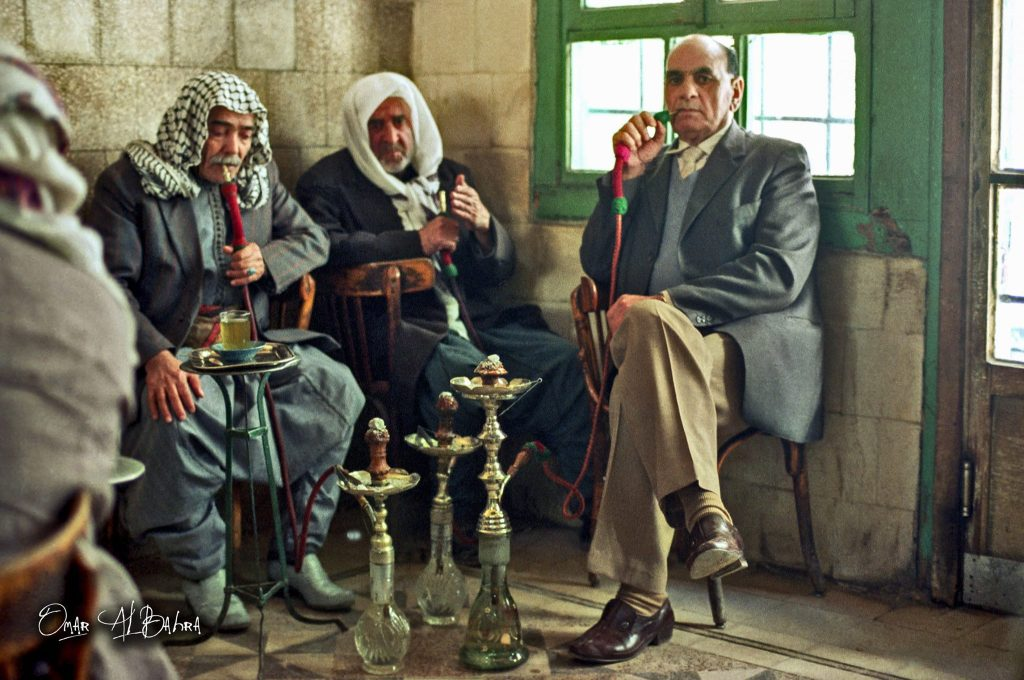 دمشق مقهى النوفرة عام 1985