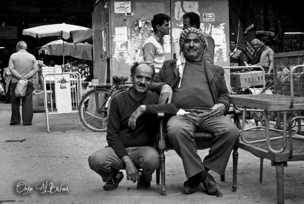جلسة في سوق الأروام مدينة دمشق عام 1986