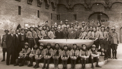 صورة كشاف سورية ووفد الكشاف العربي في زيارة إلى العراق عام 1937 (1)