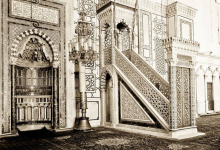 دمشق 1929 - محراب ومنبر المسجد الأموي