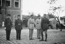 حمص - جنود فرنسيون بالقرب من السرايا القديمة في بداية عشرينيات القرن العشرين