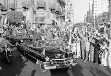 صورة القاهرة 1958 – جمال عبد الناصر وشكري القوتليعند توقيع ميثاق الوحدة (6)