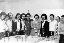 صورة طلاب في كلية الفنون الجميلة بجامعة دمشق عام 1976