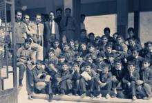 صورة دمشق 1966- المدخل الرئيسي لمدرسة البيروني في القصور بدمشق (1)