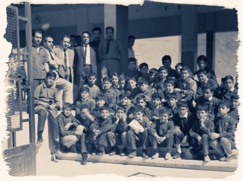 دمشق 1966- المدخل الرئيسي لمدرسة البيروني في القصور بدمشق (1)