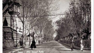 دمشق- شارع النصر - مسجد المولوية في ثلاثينيات القرن العشرين