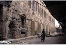 دمشق - عند الجدار الجنوبي للمسجد الأموي أثناء ترميم سوق القباقبية (2)