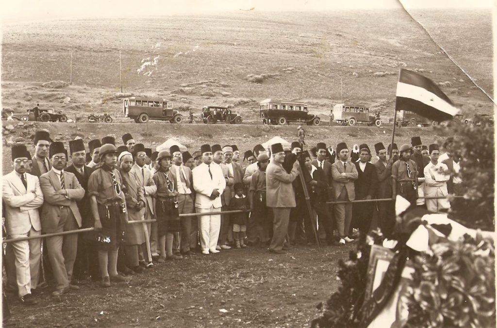 فرقة كشاف ميسلون عند ضريح يوسف العظمة