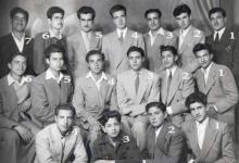 صورة مجموعة من طلاب الرقة في ثانوية التجهيز بحلب عام 1951م