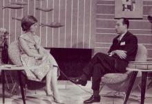 الفنان سعيد النابلسي في لقاء تلفزيوني مع نادية الغزي عام 1960