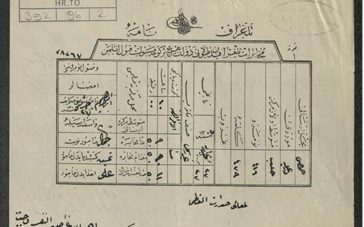 من الأرشيف العثماني 1889- عريضة من أهل حمص للصدارة العظمى لإبقاء القائمقام إحسان بك