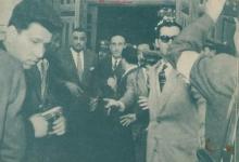 شكري القوتلي وجمال عبد الناصر عند باب المسجد الأموي عام 1958