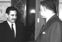 القاهرة 1969- عشاوي وزير الخارجية السوري ينقل رسالة إلى عبد الناصر