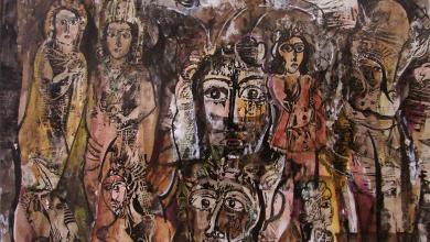 صورة من وحي تدمر (1) – لوحة للفنان أحمد مادون (27)