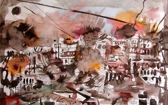 صورة لوحة (بيروت)للفنان أحمد مادون (30)