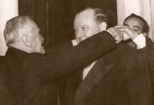 صورة الرئيس هاشم الأتاسي وأمين عام الأمم المتحدة في دمشق 1951