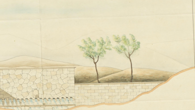 صورة من الأرشيف العثماني 1904- رسم معماري لسبيل عين البيضا في حلب