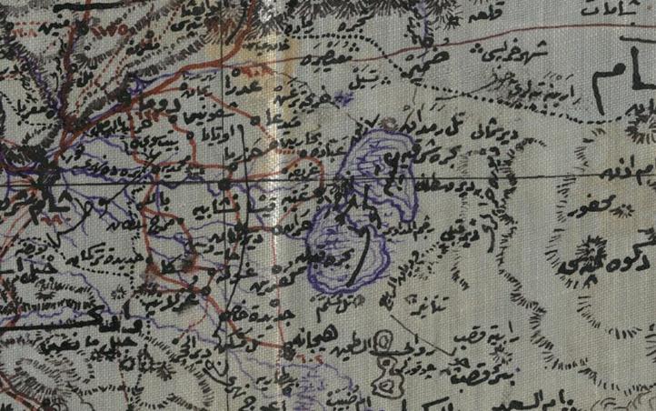 من الأرشيف العثماني 1911 - خريطة قضاء دوما بولاية سورية