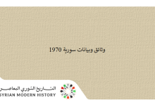 صورة وثائق سورية 1970