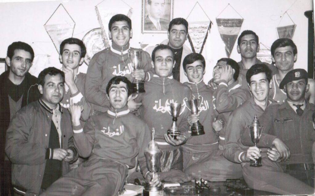 فريق كرة السلة في نادي الغوطة عام 1968