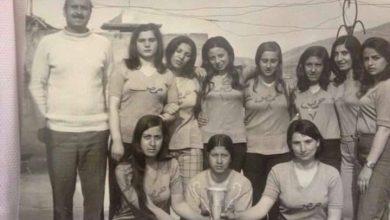 صورة فريق منتخب حمص بالكرة الطائرة للآنسات عام 1973