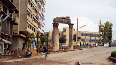 صورة اللاذقية – حي الأشرفية .. بقايا معبد باخوس .. ثمانينيات القرن العشرين