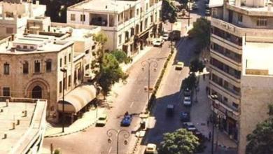 صورة اللاذقية 1993- الصورة من برج الأوقاف باتجاه الجنوب وشارع 8 اذار
