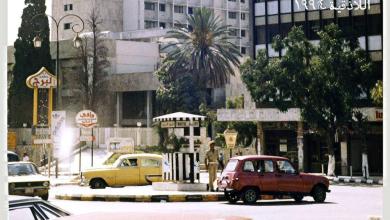 صورة اللاذقية 1994- شارع 8 آذار عند برج الأوقاف