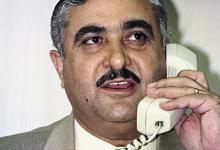صورة دمشق 1994- الوزير دنحو داوود في مكتبه