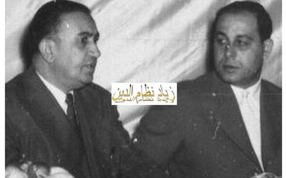 صورة الزعيم توفيق نظام الدين والمقدم مصطفى حمدون