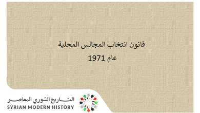 صورة قانون انتخاب المجالس المحلية عام 1971